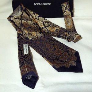 DOLCE & GABBANA- silk tie